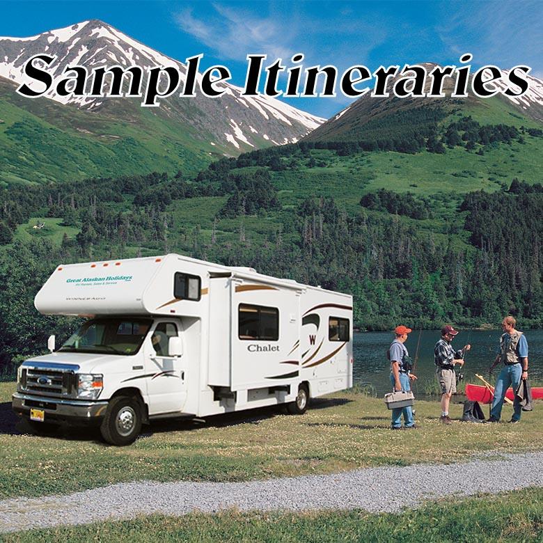 Alaskan RV Rental Sample Itineraries