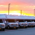 Alaskan Sunset over Great Alaskan Holidays Motorhomes