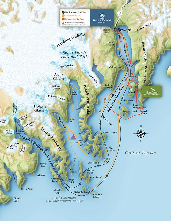 Resurrection Bay Alaska Map.Resurrection Bay Tour Great Alaskan Holidays Rv Rentals Sales