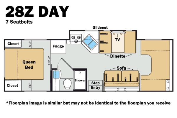 Thor 28Z Day Floorplan