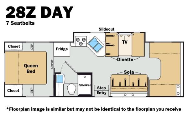 Thor 28Z Day Floorplan