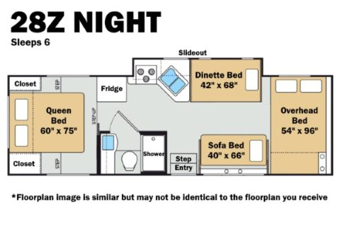 Thor 28Z Night Floorplan