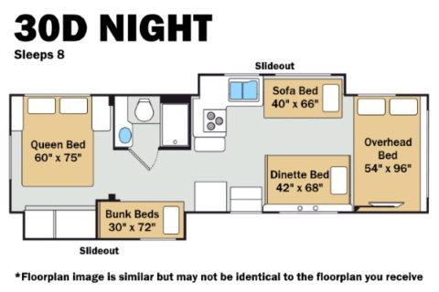 Thor 30D Night Floorplan