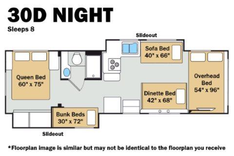 Thor 30D Night Floorplan