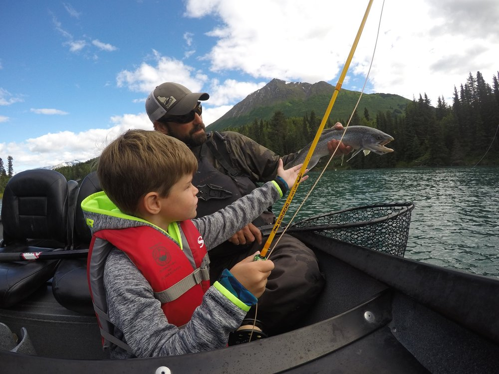 Family fishing with kids in alaska great alaskan for Cooper landing fishing guides